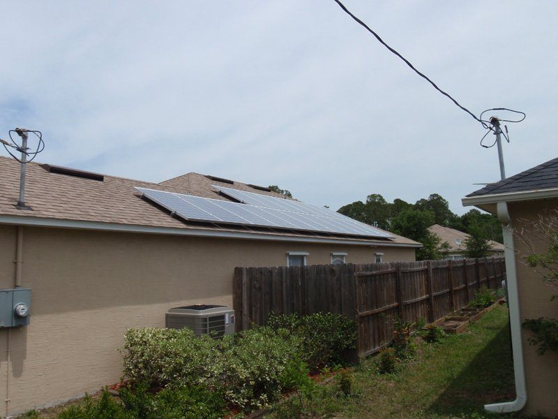 Solar array on a shingle roof installed in St. Augustine, FL