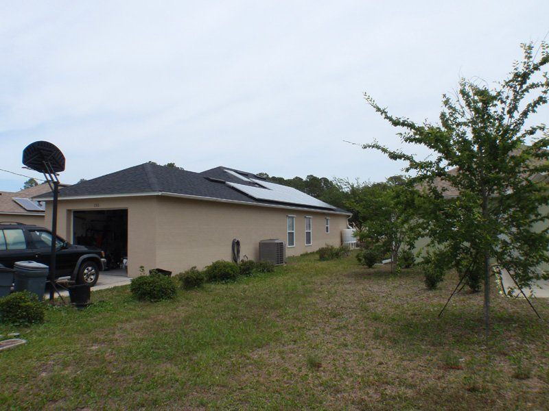 Street View of solar installation on a shingle roof in St. Augustine, FL