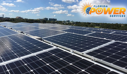 Holiday  Commercial Solar Power Installation
