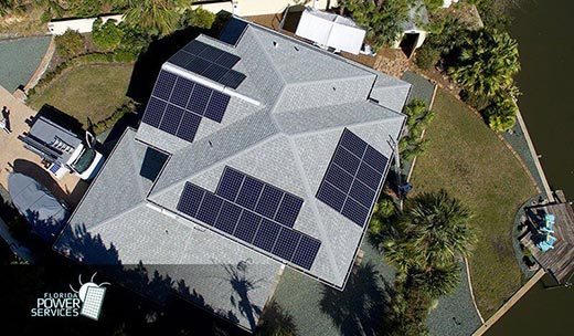 Holiday  Residential Solar Power Installation