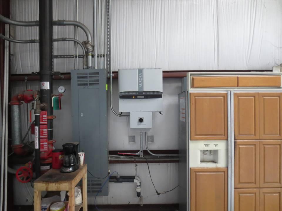 Inverter on commercial solar installation in Tampa, FL