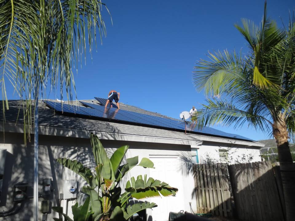 Installing solar panels in Sarasota, FL