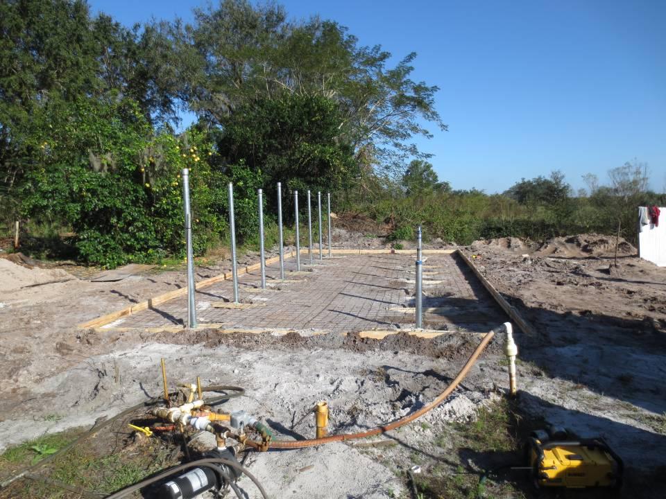 Building the foundation for a solar array