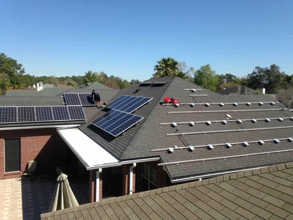 Solar Panels being installed in Jacksonville