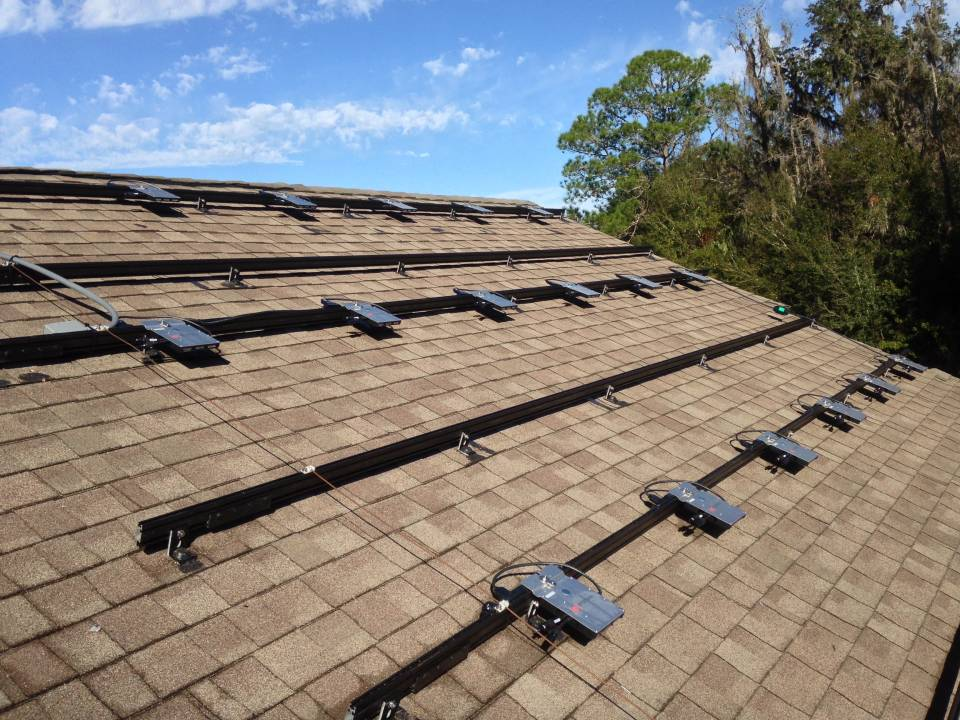 Racks & Micro Inverters mounted and wired in Tampa, FL