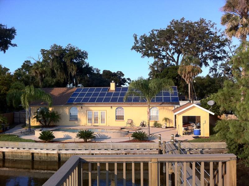 Street view of a solar installation in Port Orange, FL