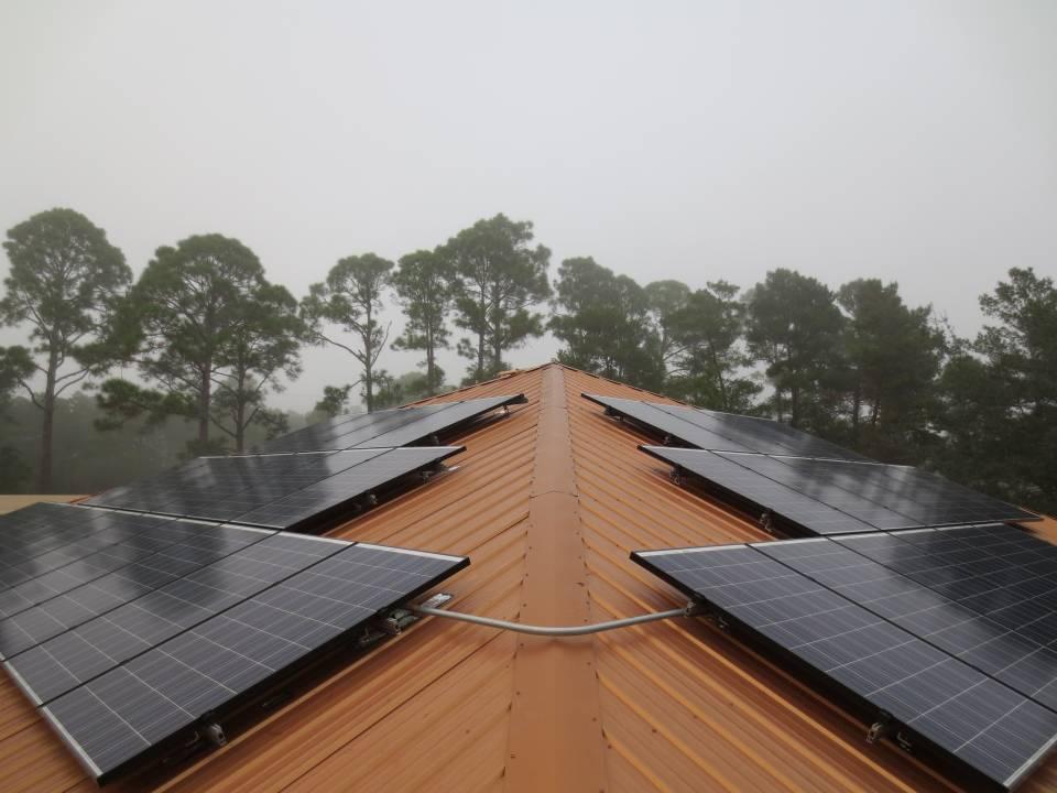 Solar Array on a metal roof in Eastpoint, FL