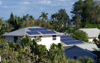 Aerial View of Solar Panels installed in Anna Maria, FL