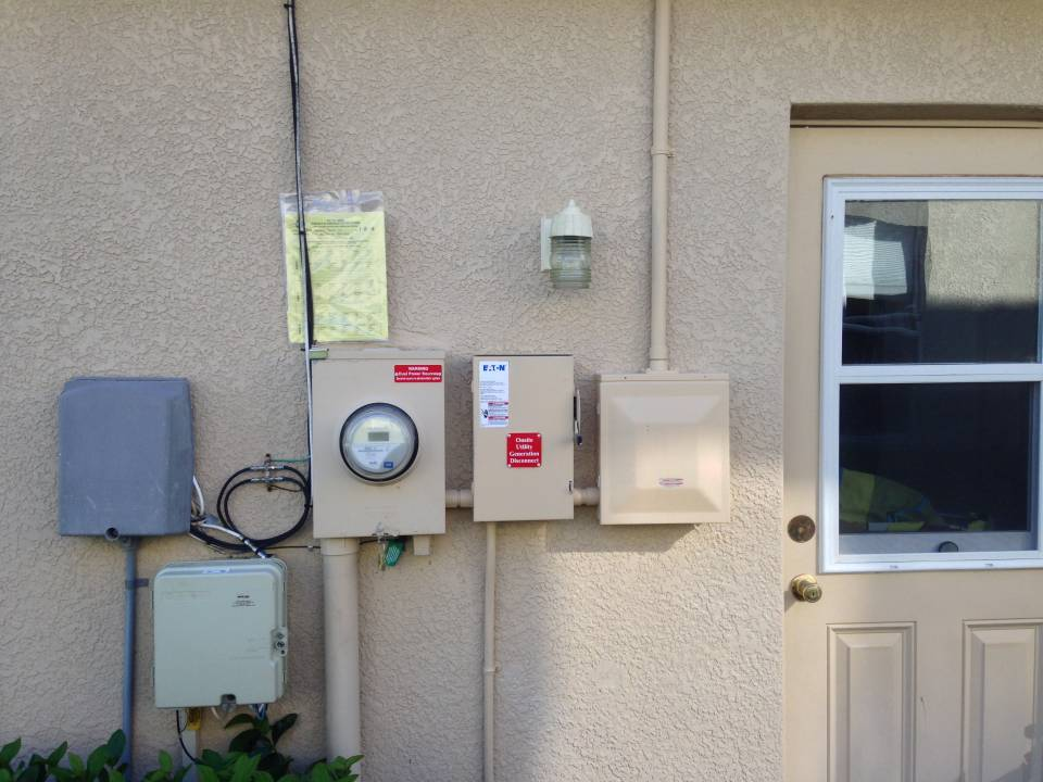 Completed interconnection wired and painted in Tampa, FL