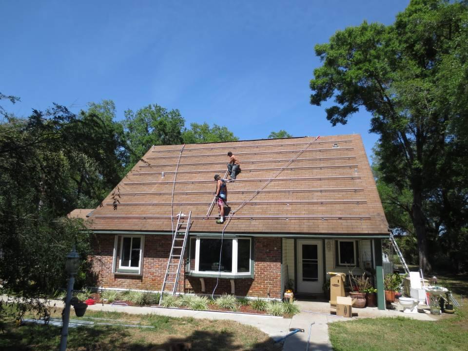 Solar rack installation in Brandon, FL