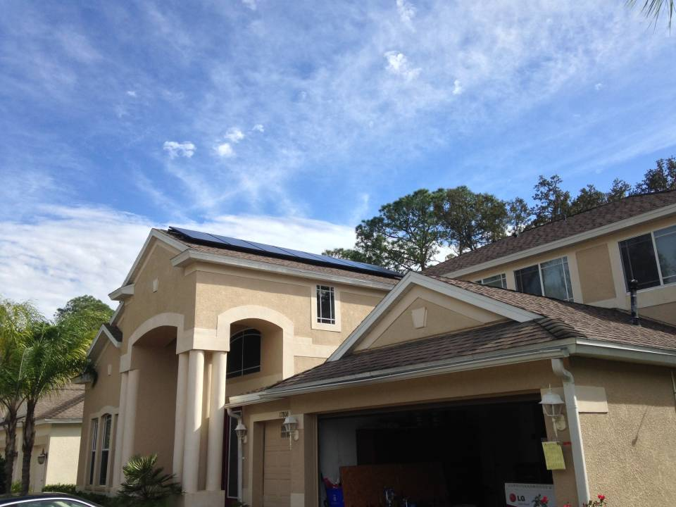Street View of solar installation in Tampa, FL