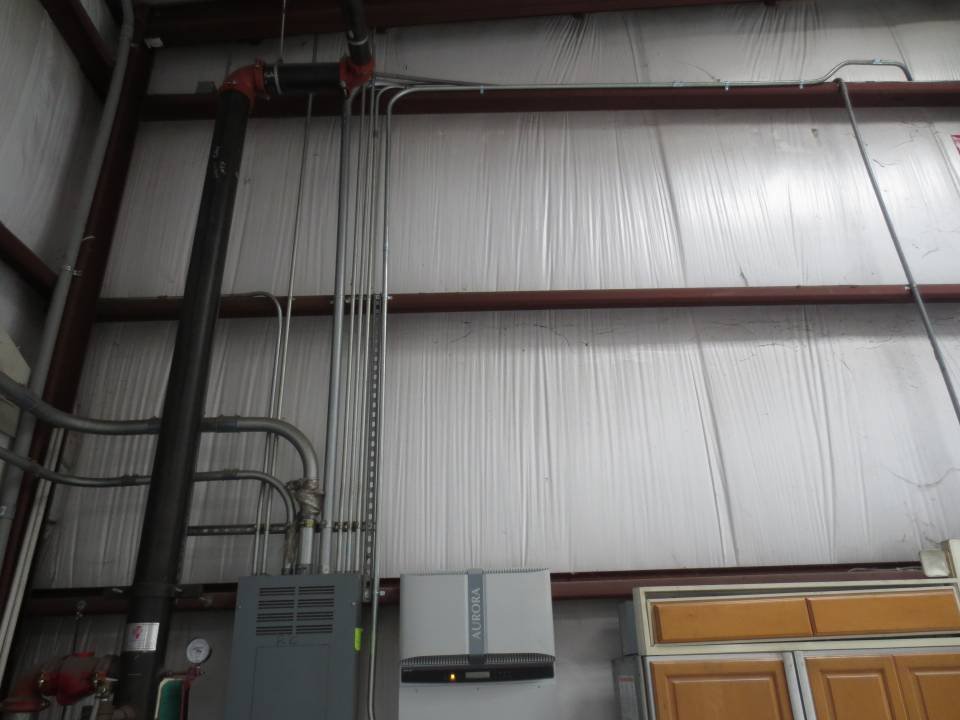 Conduit on commercial solar installation in Tampa, FL