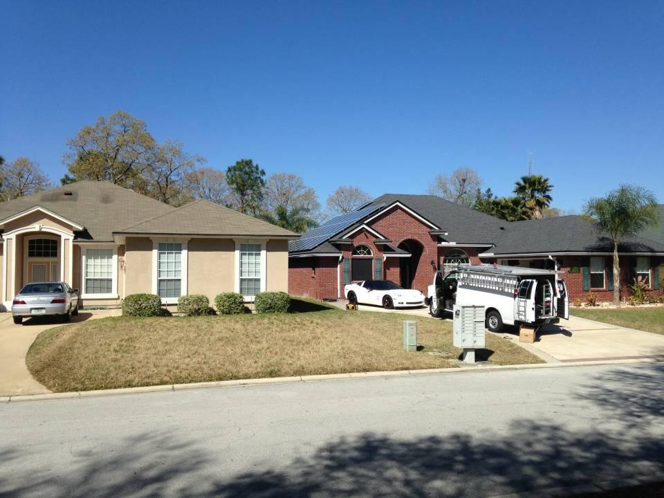 Street view of solar installation in Jacksonville