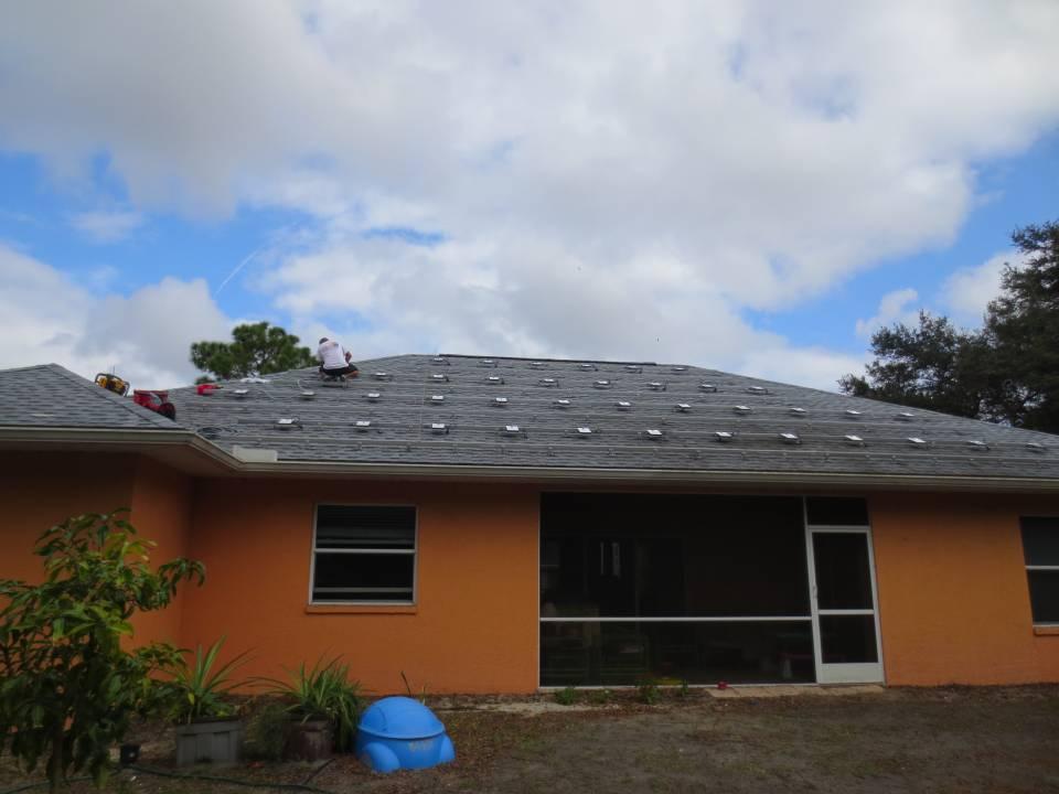 Solar Micro Inverter Installation on a Shingle Roof