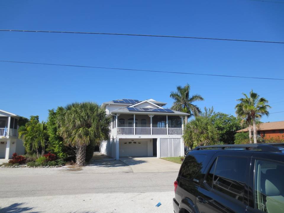 Street View of Solar Panels installed in Anna Maria, FL