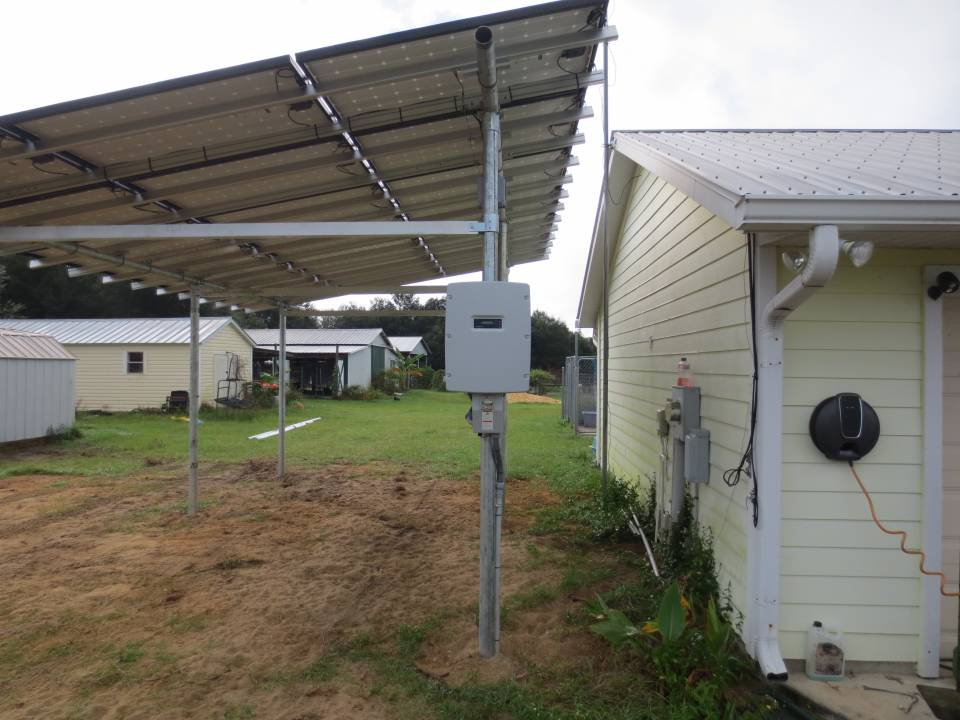 Inverter installed for Solar Car Port in Williston, FL