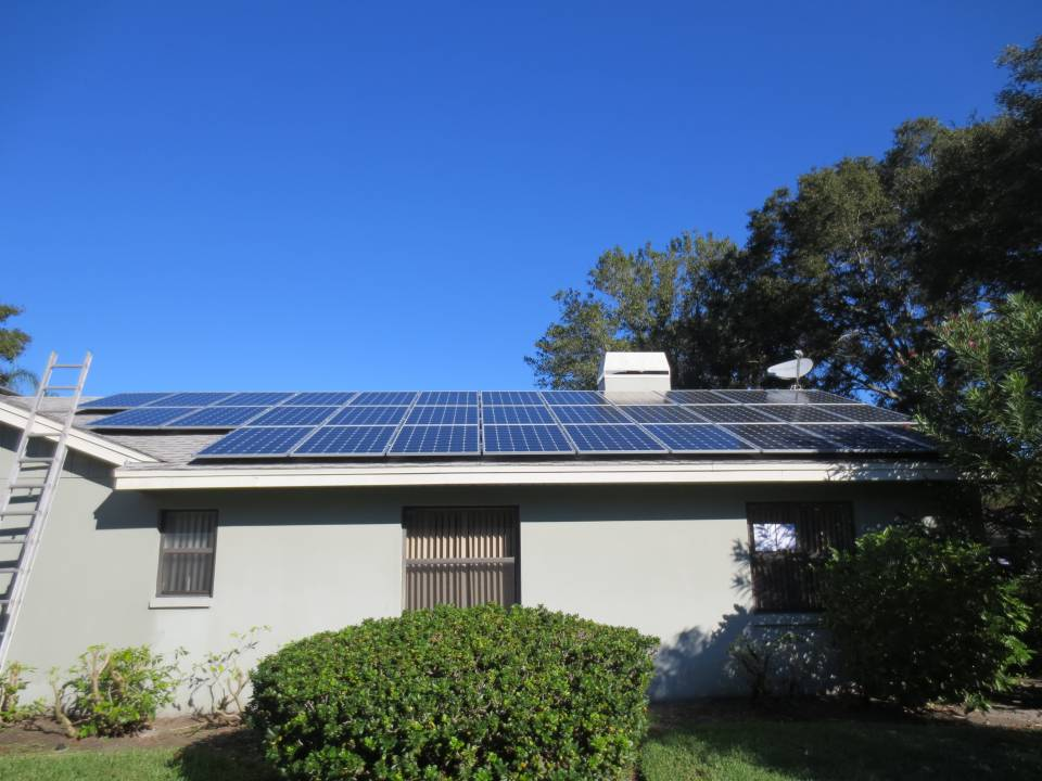 Street View of Solar Array in Clearwater, FL