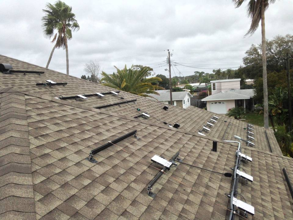 Micro Inverters and roof racks installed in Dunedin, FL