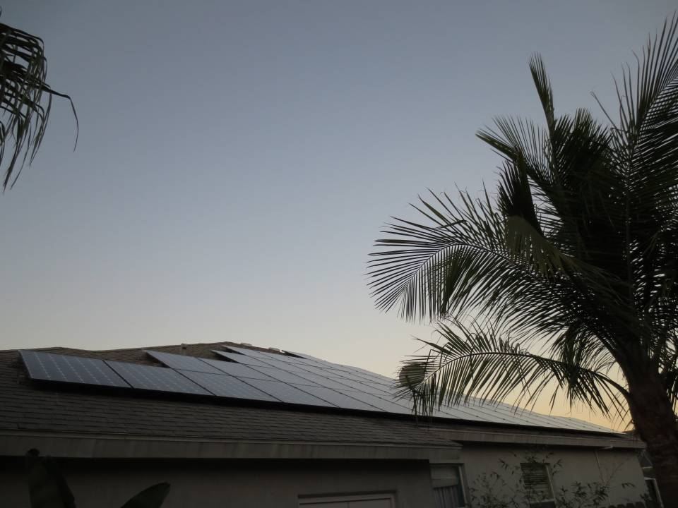 Street view of solar array in Sarasota, FL