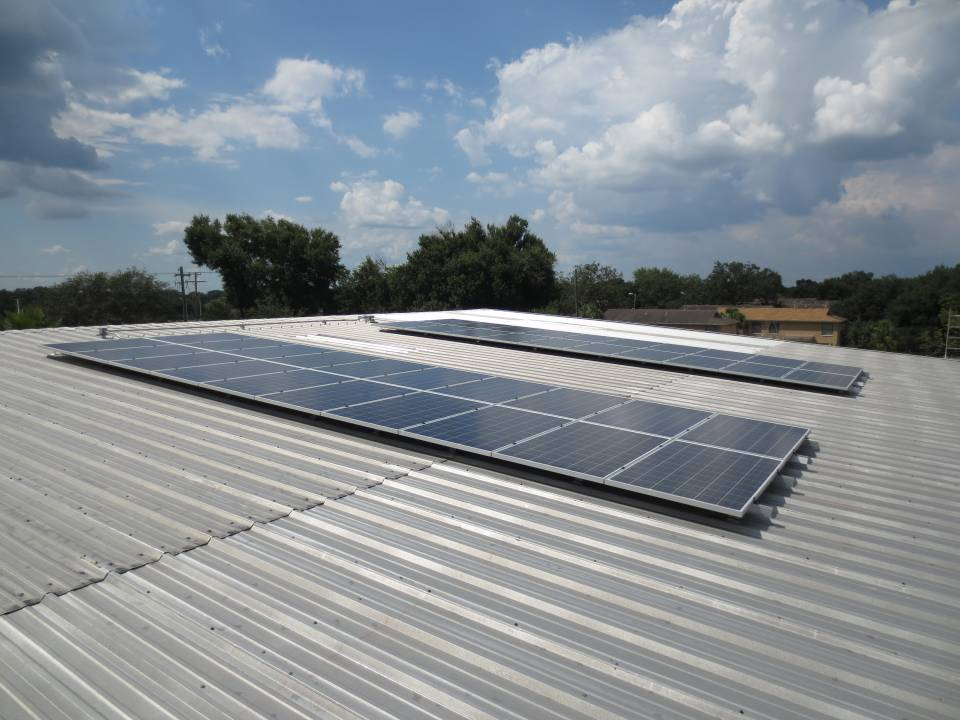 Commercial solar installation in Tampa, FL