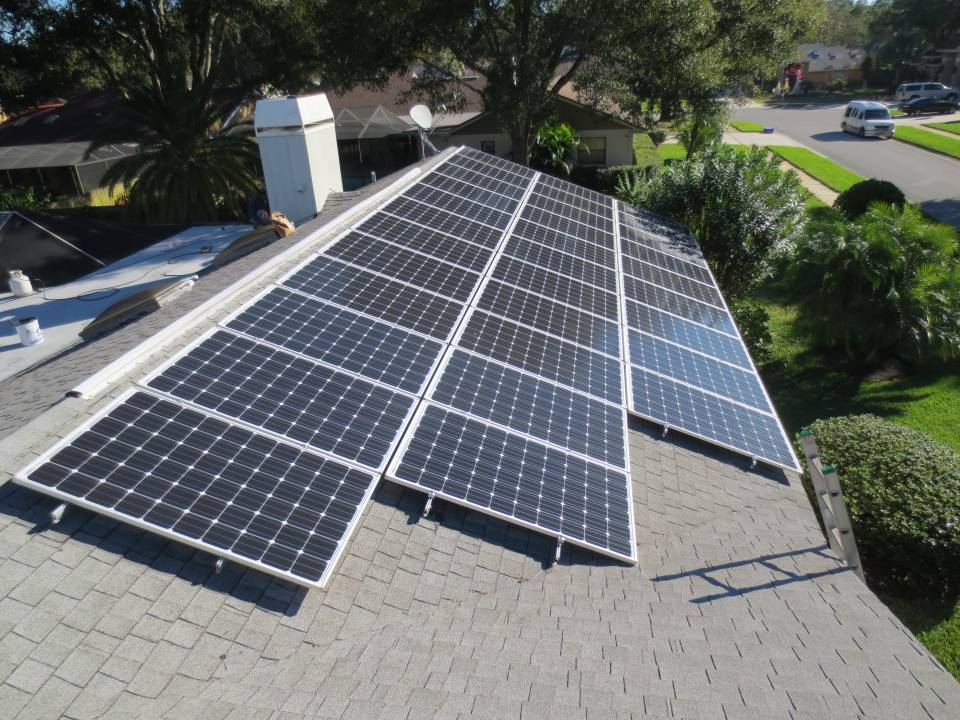 Solar Array installation in Clearwater, FL