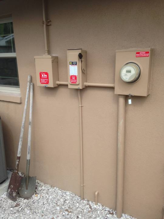 Interconnection installed and painted in Dunedin, FL
