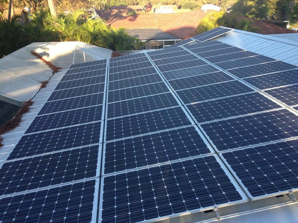 Overhead view of solar array