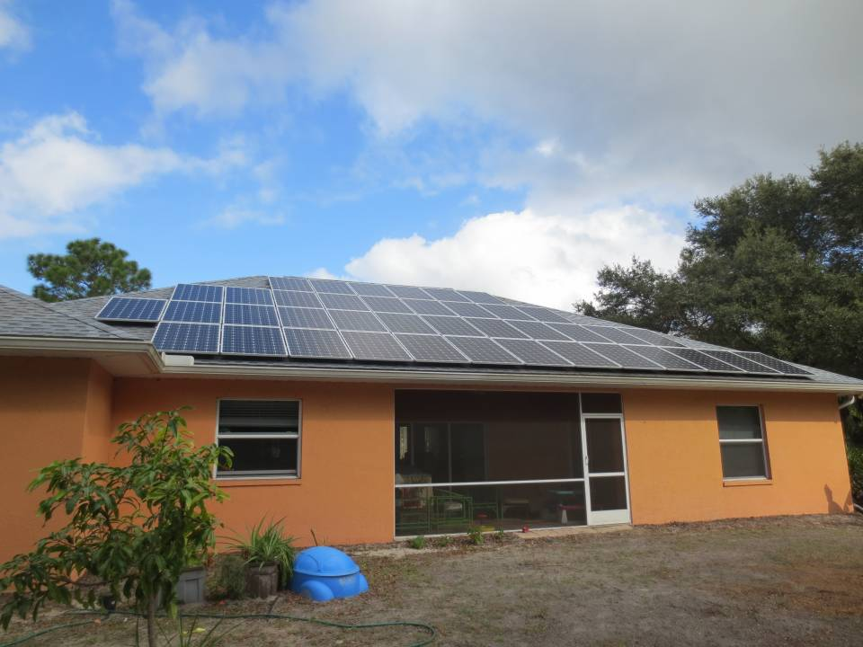 Street View of Solar Installation in Northport, FL