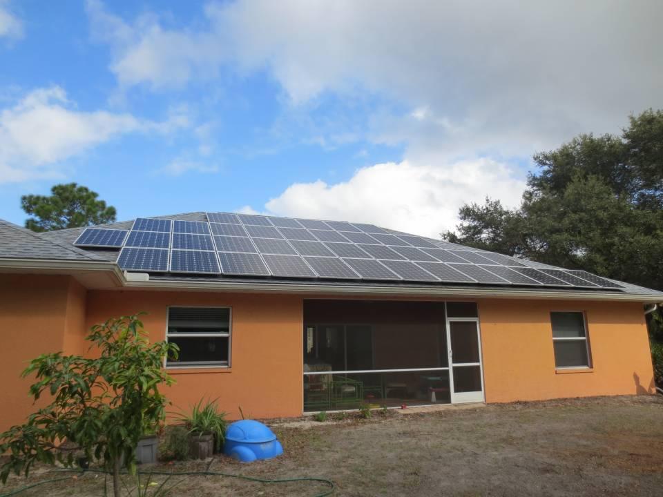 Street View of Solar Installation in Northport, FL