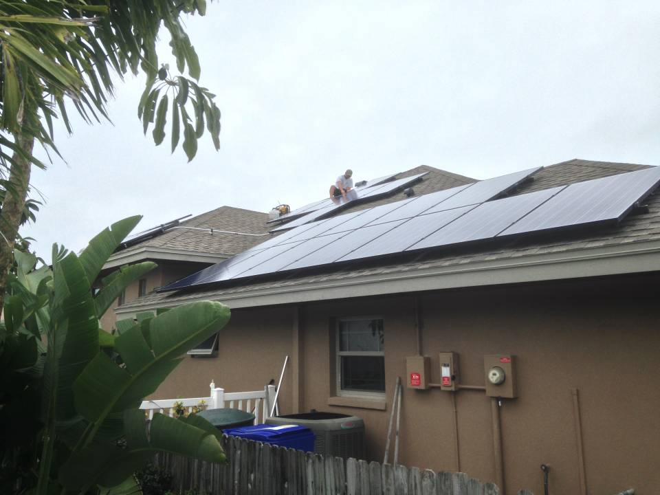 Solar panels being installed in Dunedin, FL