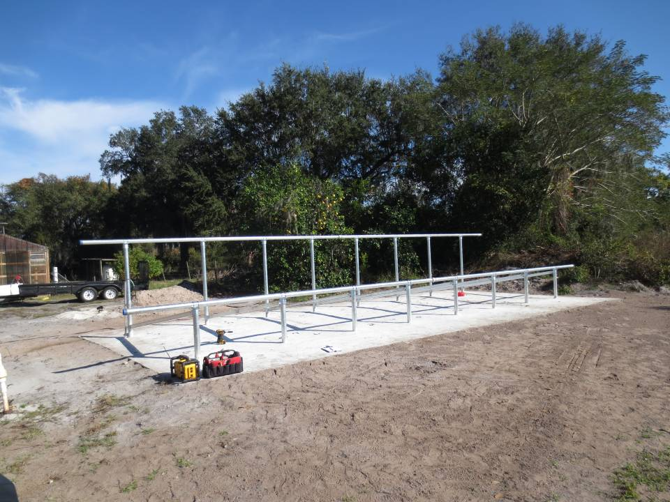 Ground Mounts ready for solar panels
