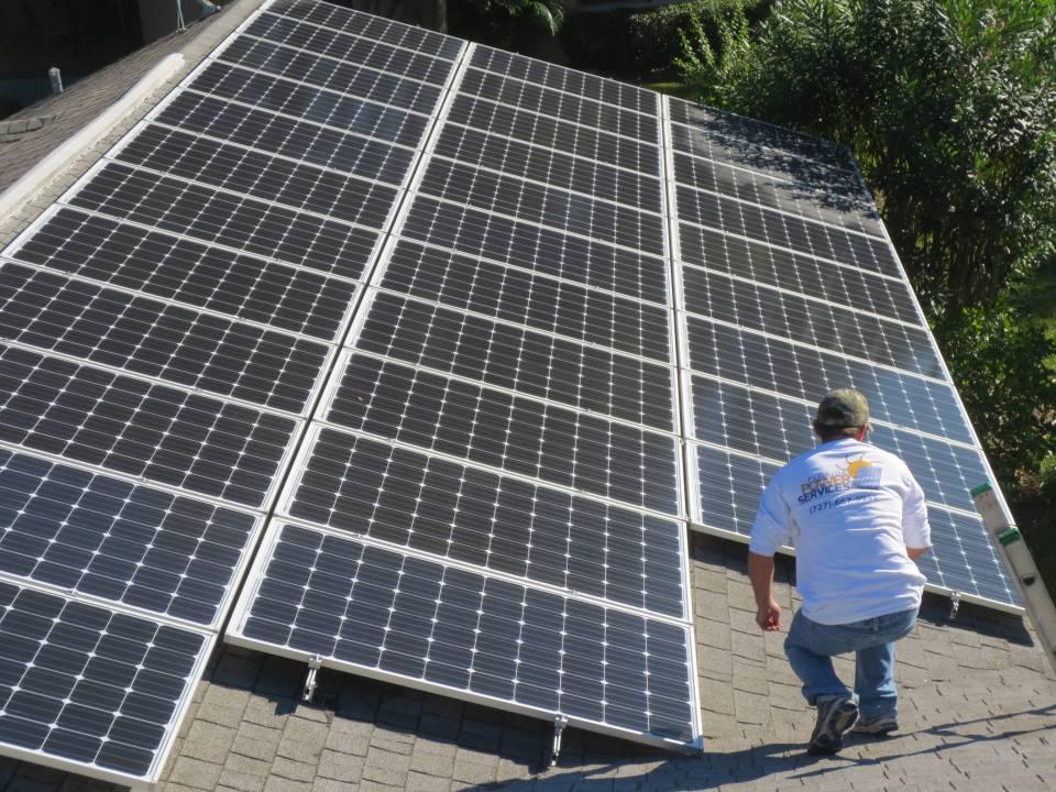 Solar Array installation in Clearwater, FL