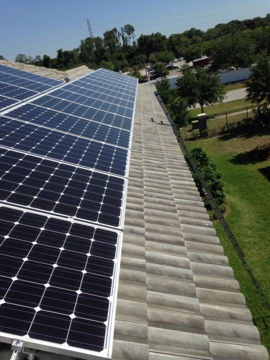 Completed Solar Array on Tile Roof