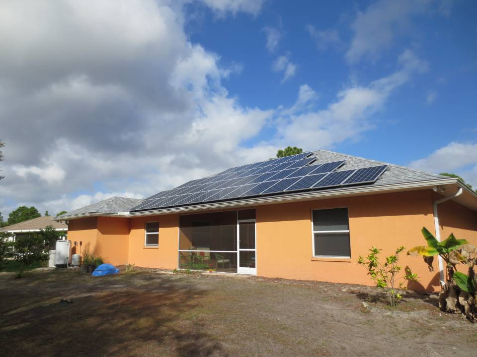 Backyard View of Solar Array in Northport, FL
