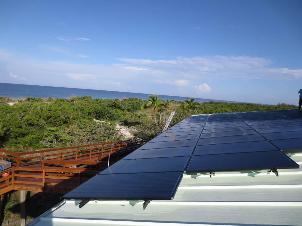 Roof View of solar installation