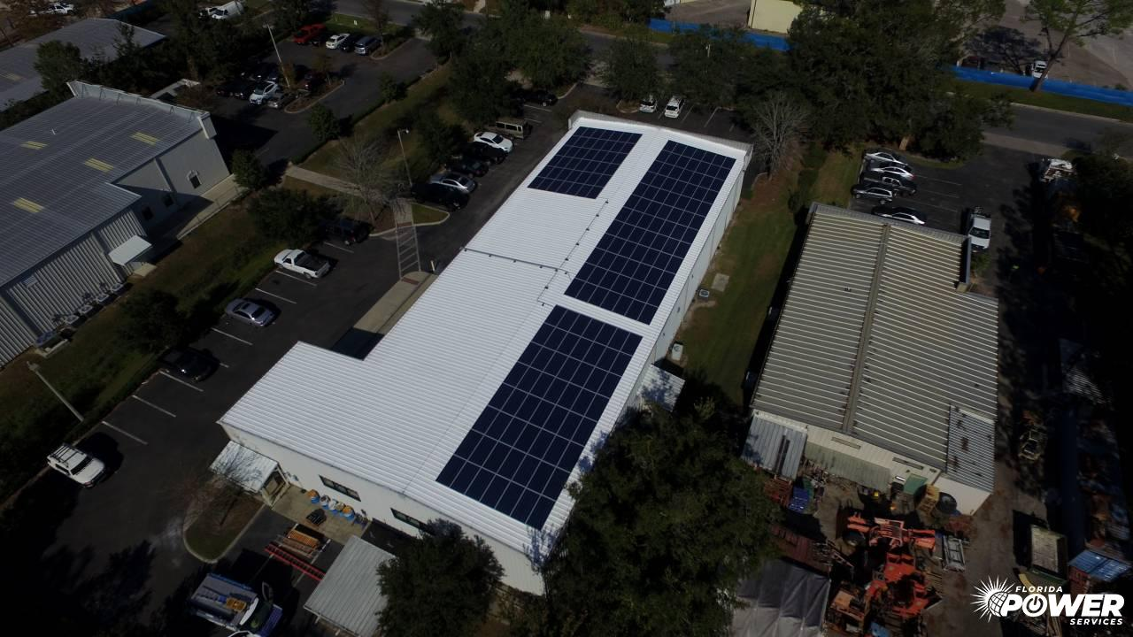 Overhead View of 60 kW Commercial Installation