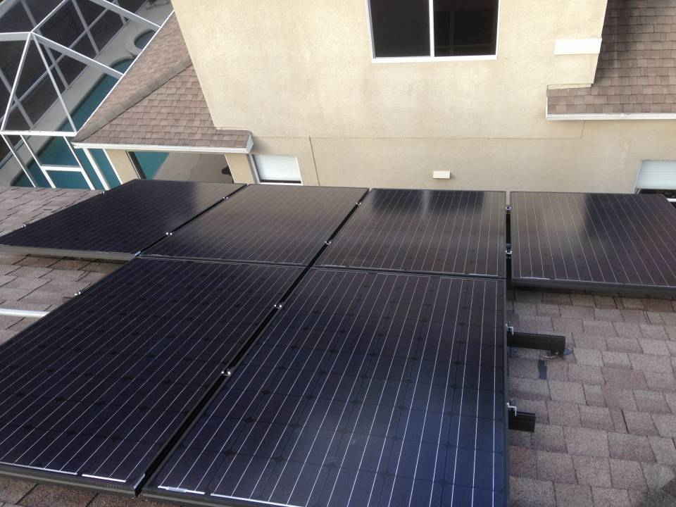 Roof View of Solar Array in Tampa, FL