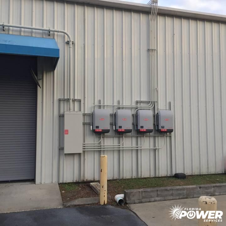 Completed Inverter Installation on 60kW Commercial System