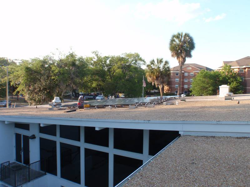 Installing the solar panels in Gainesville, FL