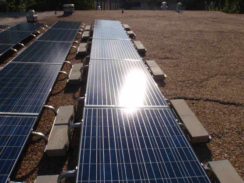 Roof View of solar array in Gainesville, FL