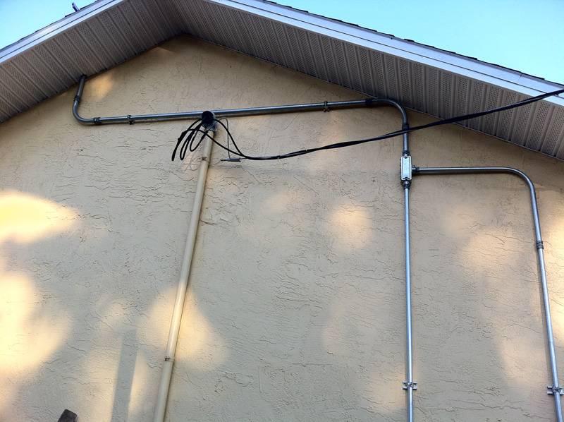 Conduit installed on a solar installation in Port Orange, FL