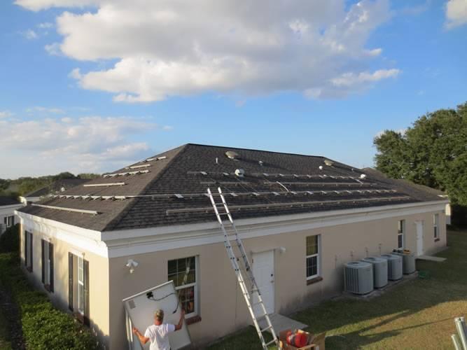 Racks installed for a solar installation in Valrico, FL