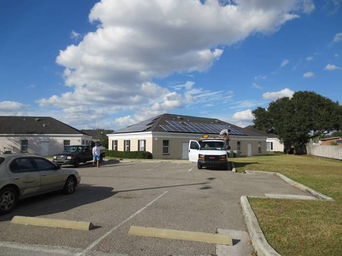 Street view of a solar installation in Valrico, FL