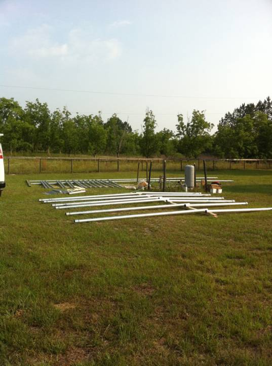 Ground Mount being assembled in Fort White, FL