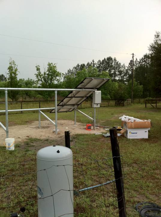 Solar Panels being installed on a ground mount in Fort White, FL