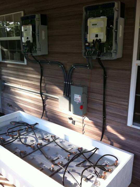 Wiring the battery backup system installed in Navarre, FL