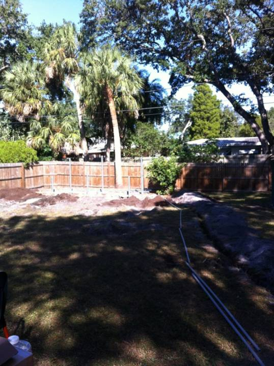 Running the conduit to a ground mount in St. Pete, FL