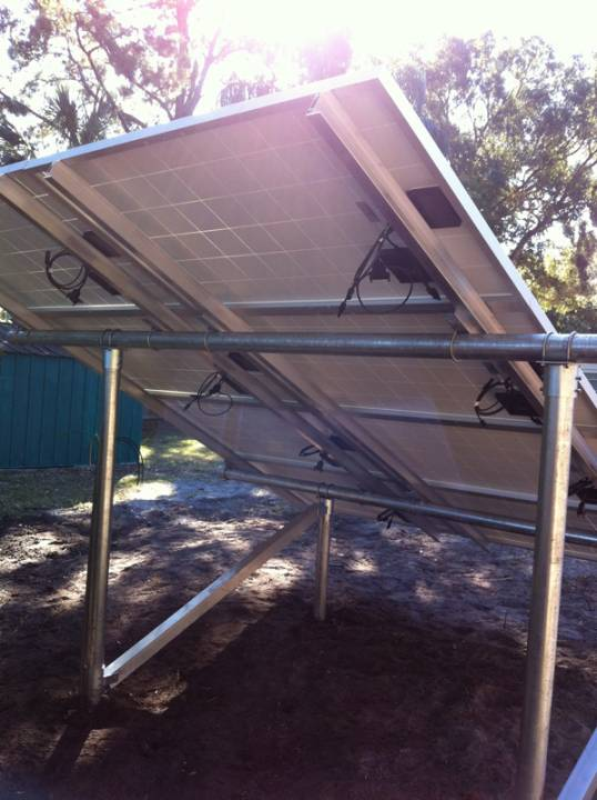 Wiring the solar panels on a ground mount in St. Pete, FL