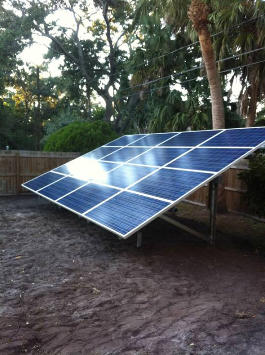 Solar array of a ground mount in St. Pete, FL