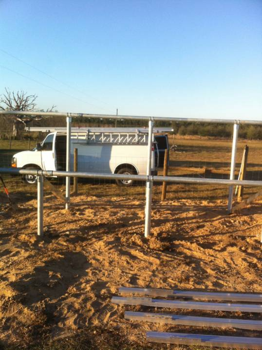 Installing ground mounts for solar installation in Morriston, FL